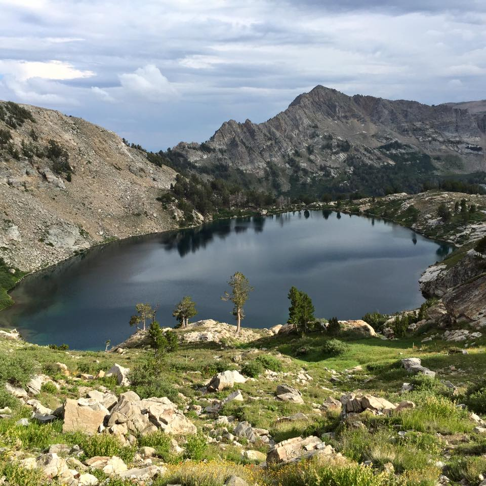 Views of Liberty Lake from the Ruby Crest Trail.