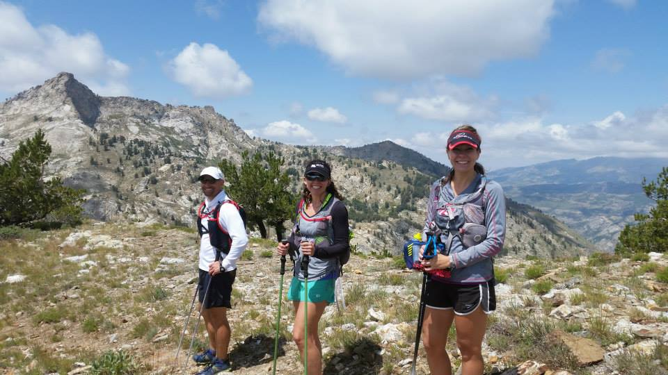 Ultra Runners enjoying the sunshine on the Ruby Crest Trail.