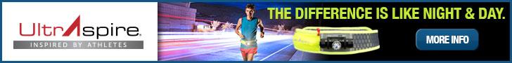 UltrAspire banner ad for the Lumen 600 waist belt.