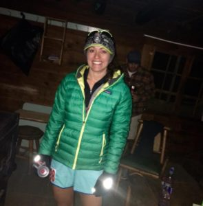Ultra Runner Debbie Farka at the start of the 2016 IMTUF 100 mile trail race.