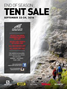 Amer Sports Facotry Outlet Fall Sale flyer.