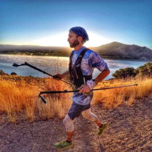 Tommy Barlow during the last few miles of the Wasatch 100.