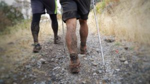 Muddy legs at the Bear 100.