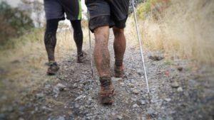Muddy legs at the Bear 100.