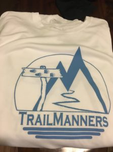 White Long Sleeve TrailManners Tech Tee
