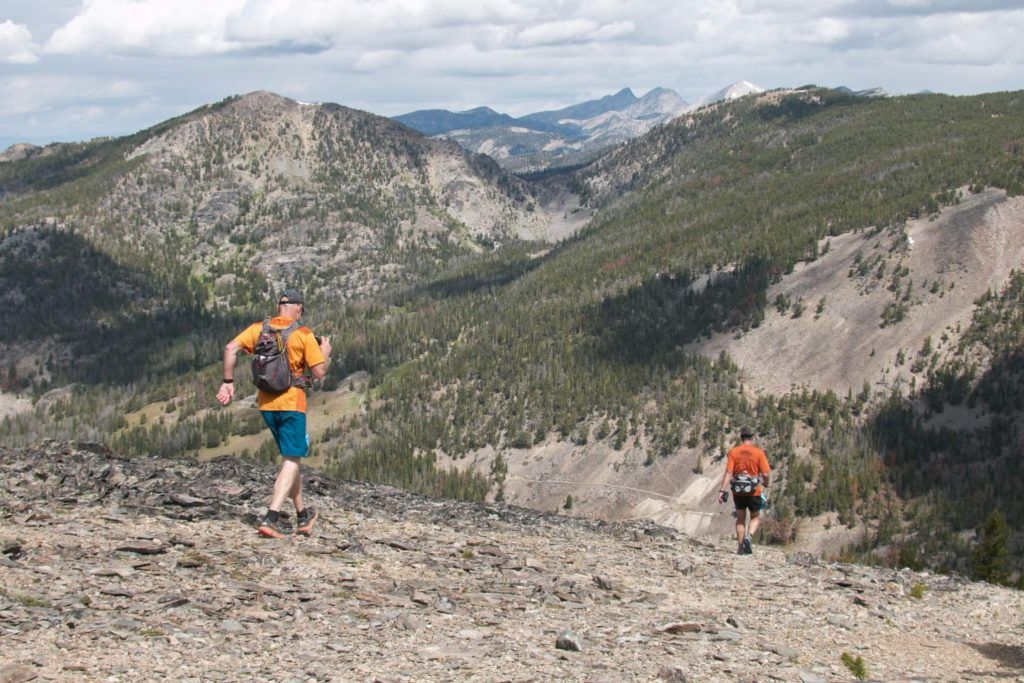 Two runners on the Beaverhead Endurance course