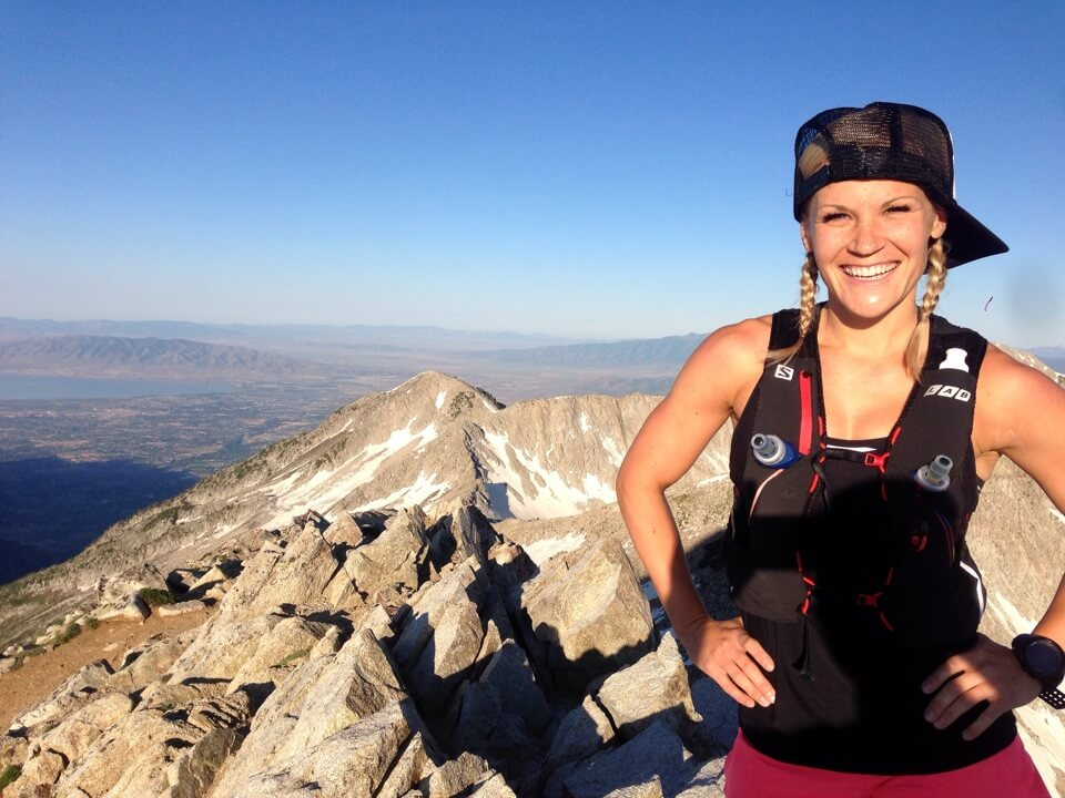 Kenzie Barlow peak bagging in the Wasatch mountains.