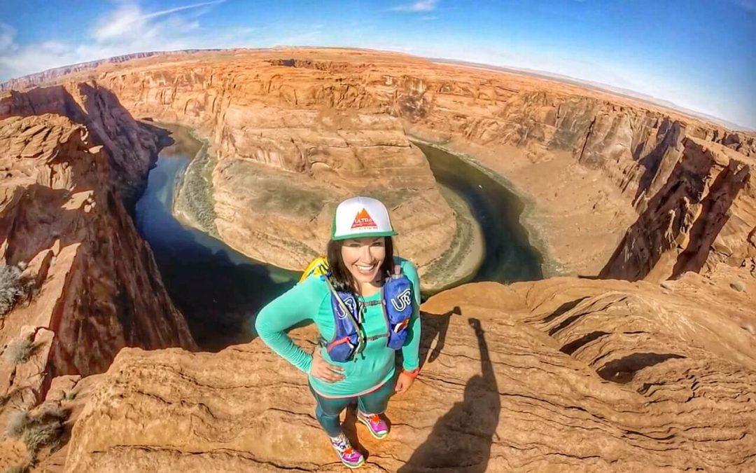 Melissa Salomon running Antelope Canyon 50 miler.