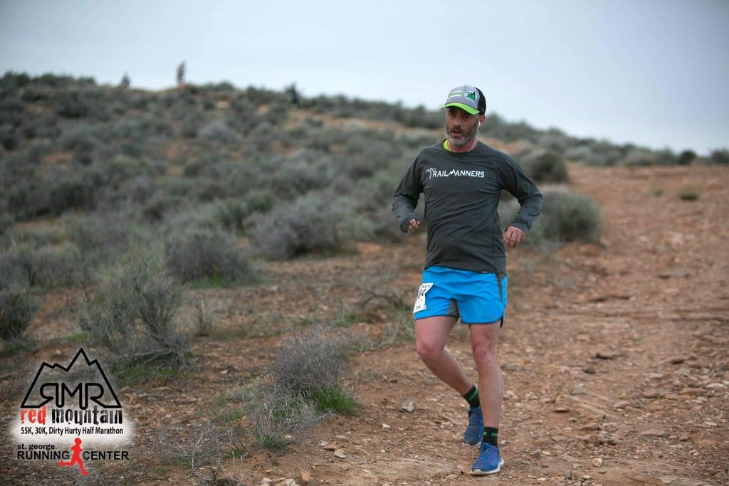 Joel Hatch from TrailManners running the Read Montain 30k trail race.