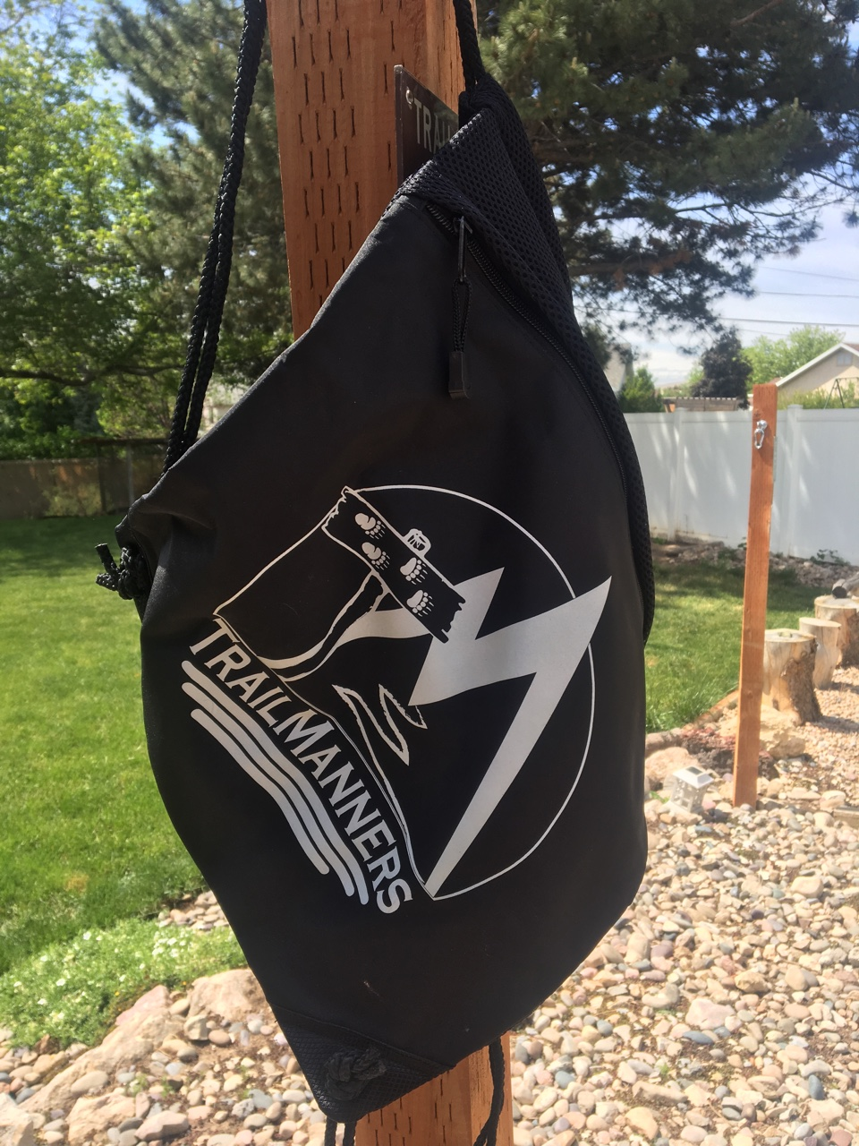 TrailManners black cinch bag
