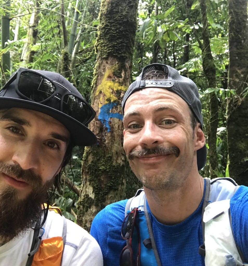 Brian Tolbert and Kyle Dietz on Dominica traversing the island.
