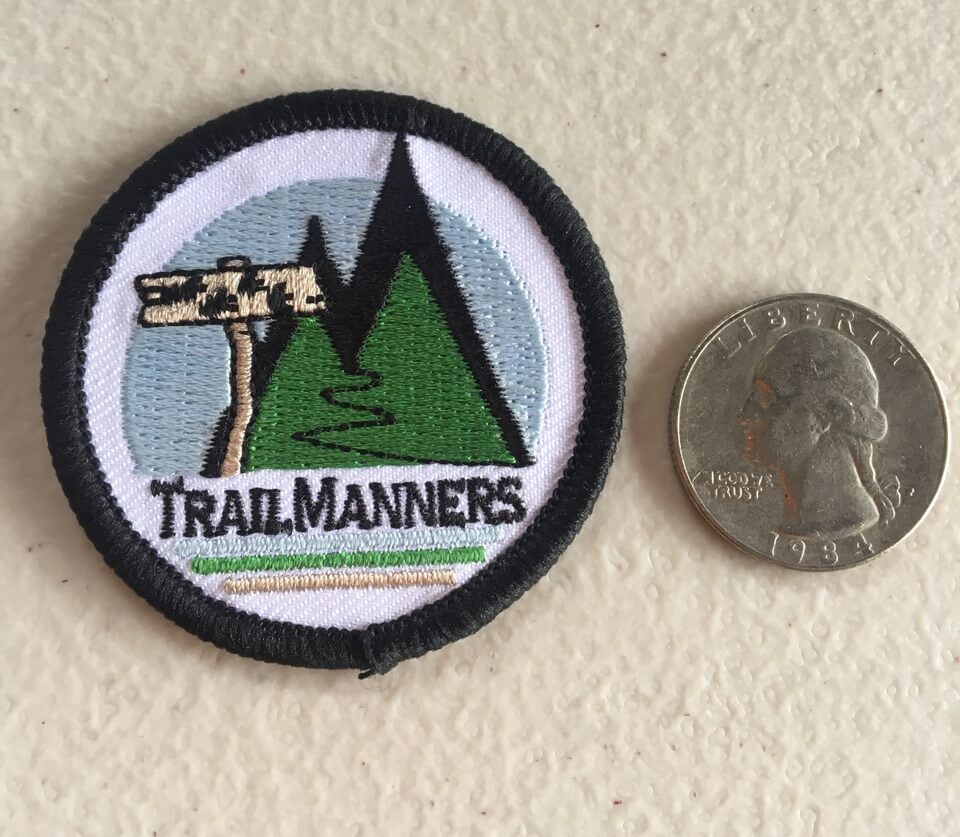 Trailmanners logo'd patch