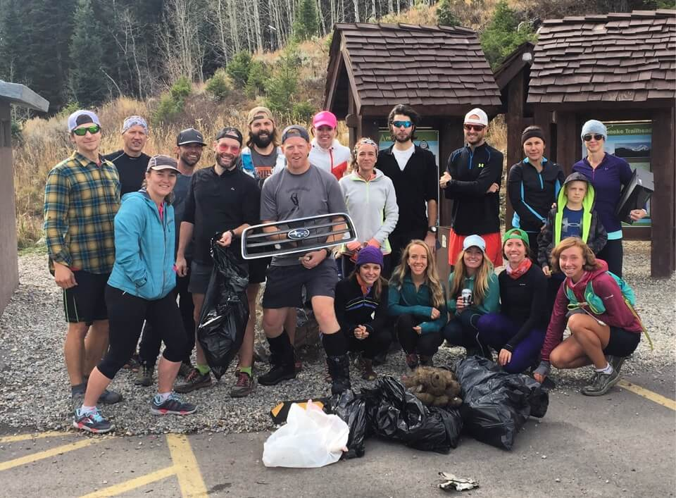 Wasatch Mountain Wranglers cleaning up Mt TIMP TRAIL
