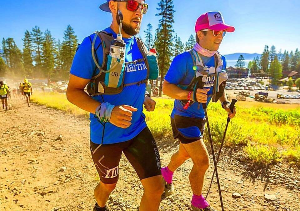 Eric Chrisman, Owner of Elevation Culture, running the Tahoe 200 mile trail race.