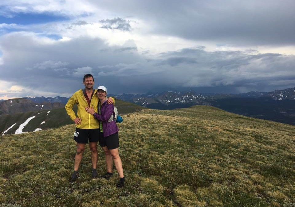 Jeff Hart getting engaged on the Hardrock 100 race course.