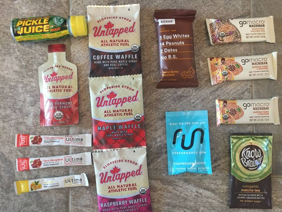 Nutritional products from the 2017 Outdoor Retails show.