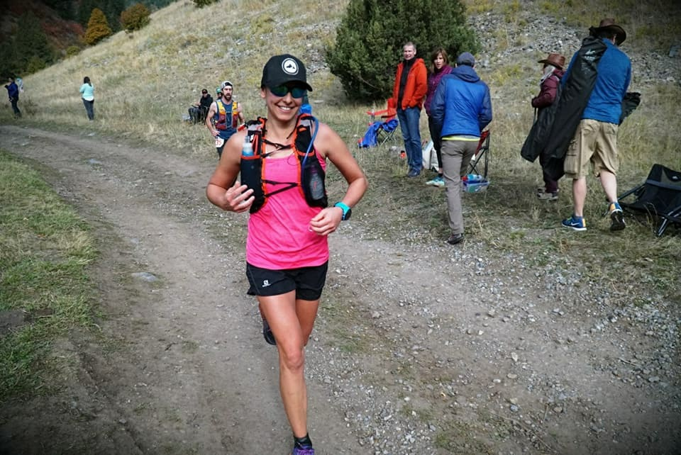 Kelsy Bingham running the Bear 100.