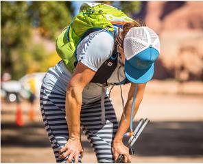 Sylvia Greer finishing the Moab 240